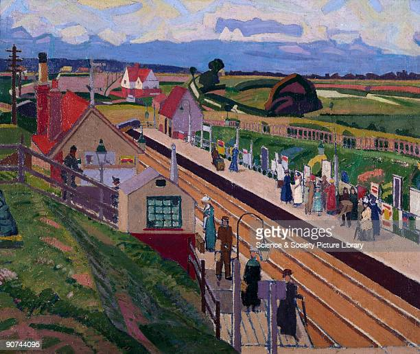 Oil painting by Spencer Frederick Gore Gore went to Letchworth in August and November 1912 staying in the artist Harold Gilman�s house Letchworth...