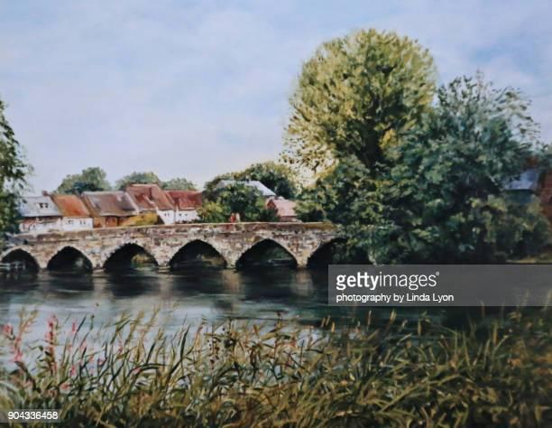 Oil Painting of Fordingbridge Dorset