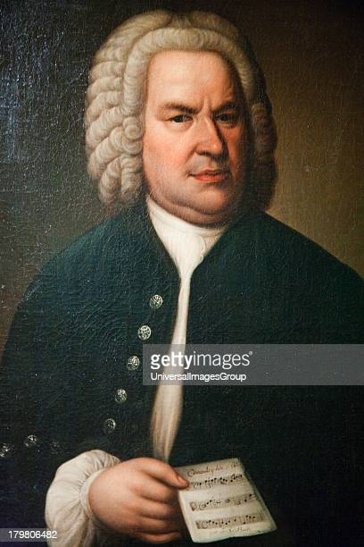 Oil painting of Johann Sebastian Bach hanging in Bach Museum in Leipzig Germany