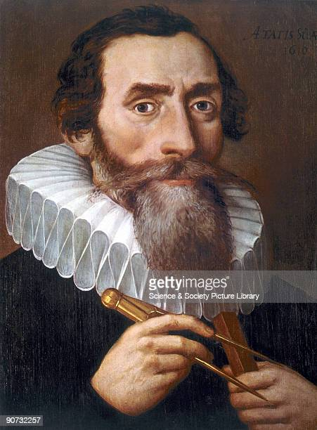 Oil painting on canvas of Johannes Kepler Kepler became a follower of Copernicus whilst studying theology He later worked with Tycho Brahe in Prague...