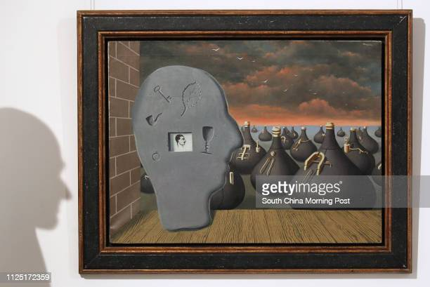 Oil painting The Spontaneous Generation by Rene Magritte in 1937 estimated HK$286 million is shown at Edouard Malingue Gallery Impressionism to...