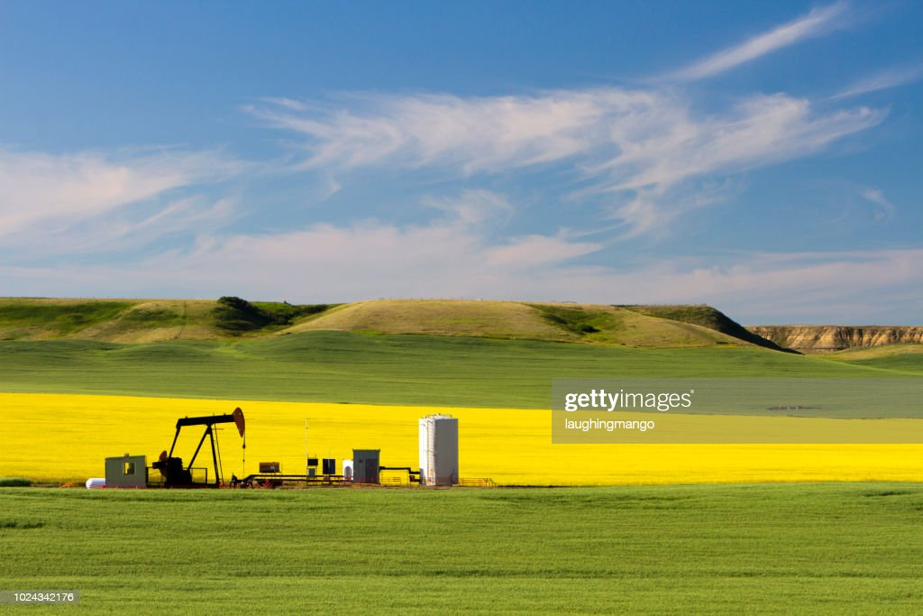Oil Petroleum Pumpjack Alberta : Stock Photo