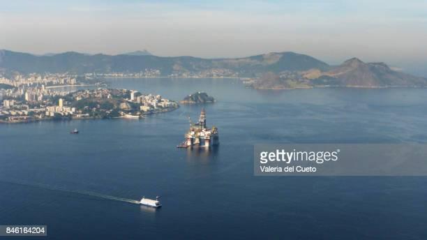 Oil platform in Guanabara Bay, the first sight