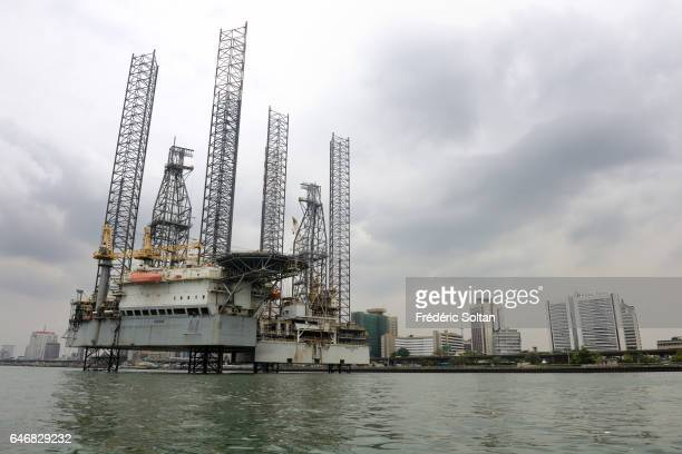 Oil platform in Lagos Port Complex is located at the Apapa area of Lagos on March 16 2016 in Lagos Nigeria West Africa