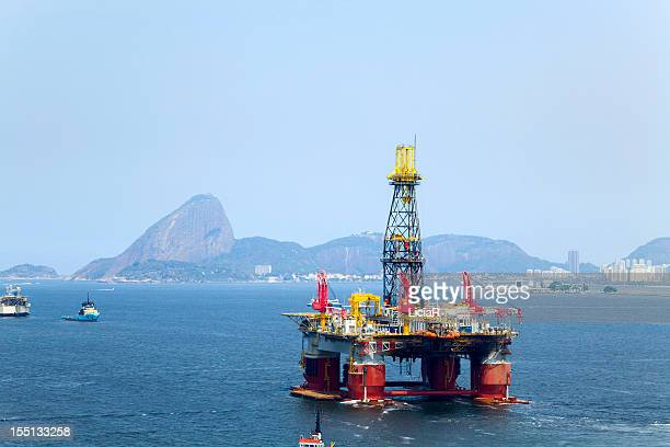 Oil platform in Rio de Janeiro, Brazil
