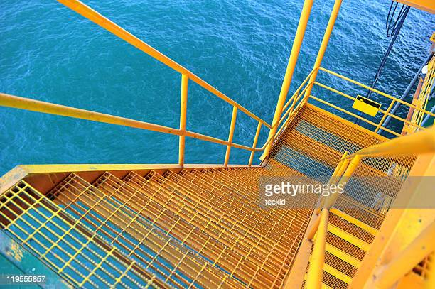 oil platform ladder - construction platform stock pictures, royalty-free photos & images