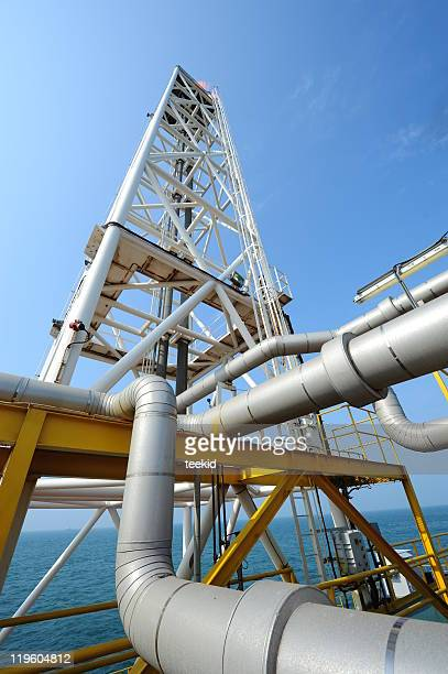 Oil Platform Rig Flame
