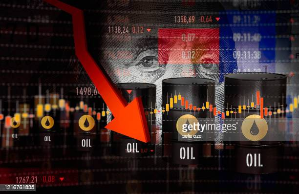 oil prices moving down - oil stock pictures, royalty-free photos & images