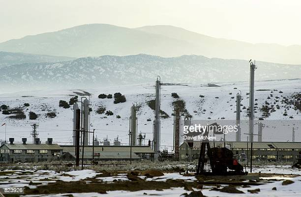 A oil production facility in the South Cuyama Oil Field is surrounded with snow February 16 near New Cuyama CA in Santa Barbara County In recent...