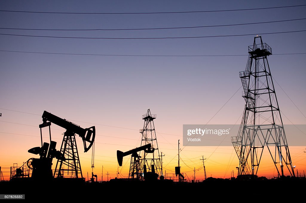 Oil production : Foto stock