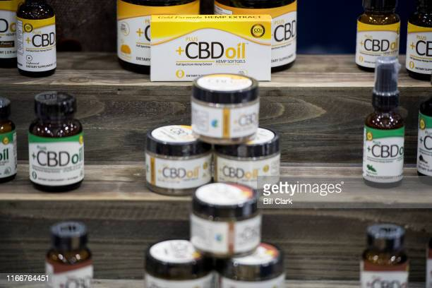 CBD oil products on display at the Southern Hemp Expo at the Williamson County Agricultural Exposition Park in Franklin TN on Friday Sept 6 2019