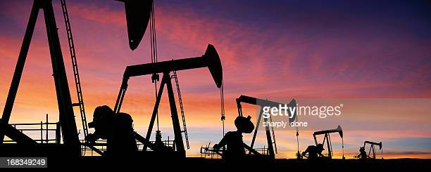 XXXL-Öl pumpjack Silhouetten