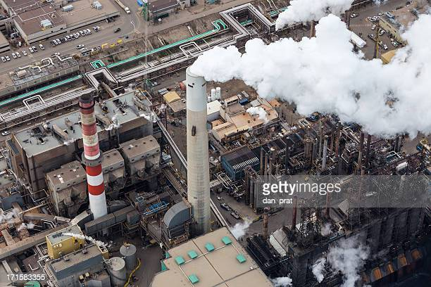 Oil Refinery, Aerial Photo