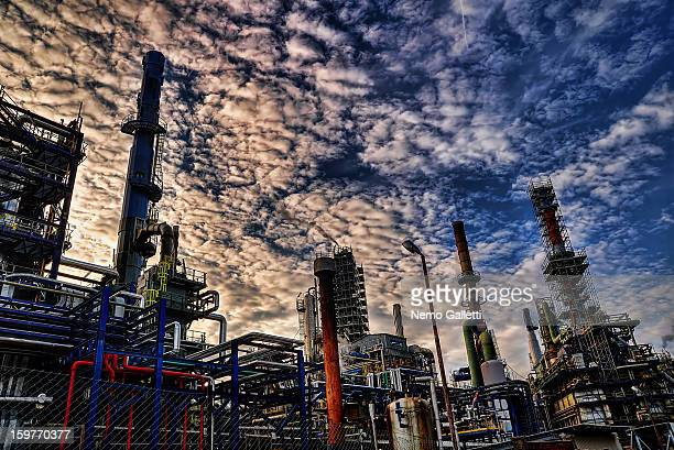 CONTENT] Oil Refinery Busalla Genova Italy Petrochemical plant Distillation towers Pipes tubes chemicals diesel gasoil oil pollution energy IPLOM SpA