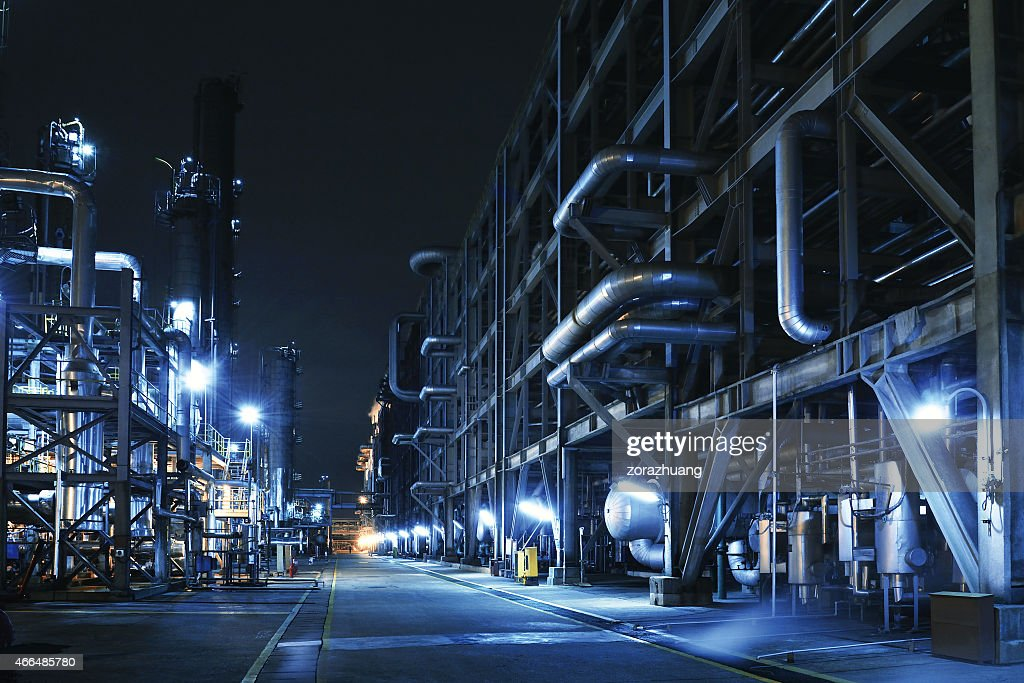 Oil Refinery, Chemical & Petrochemical plant : Stock Photo