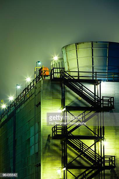 oil refinery cooling towers - carson california stock pictures, royalty-free photos & images