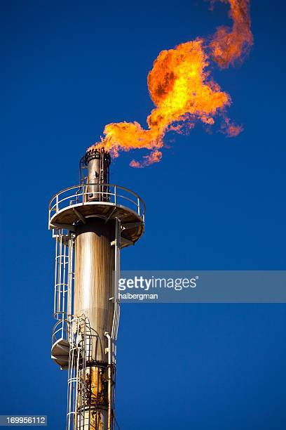 Oil Refinery Flare Stack