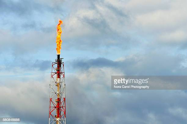 Oil Refinery Flare Stack (Gas Flare)