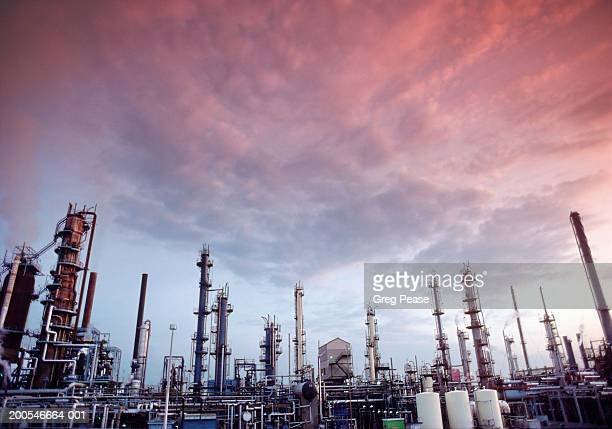 Oil Refinery, low angle view