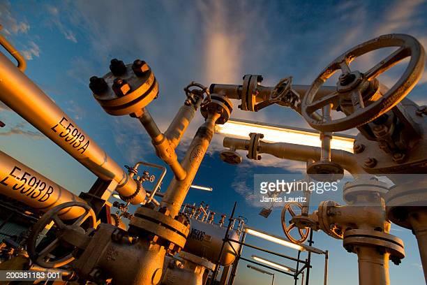 Oil refinery module under construction, close-up