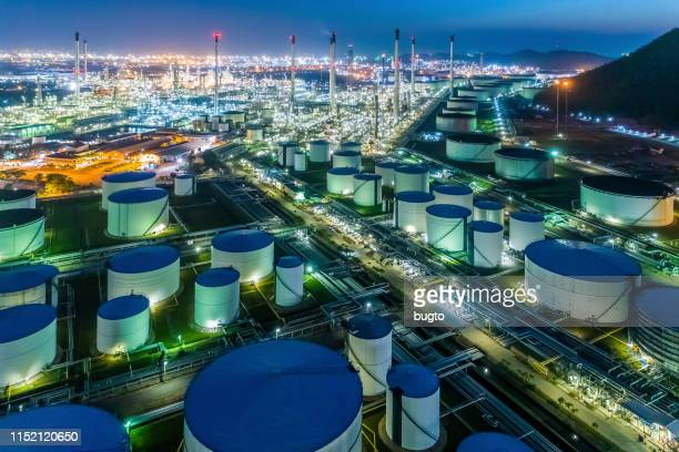 oil refinery - oil industry stock pictures, royalty-free photos & images
