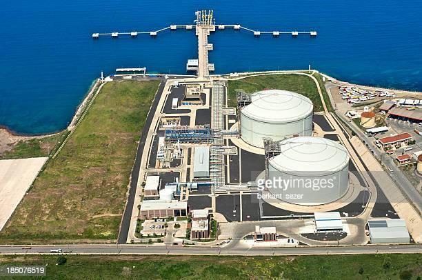refinaria de petróleo - tanque de armazenamento imagens e fotografias de stock