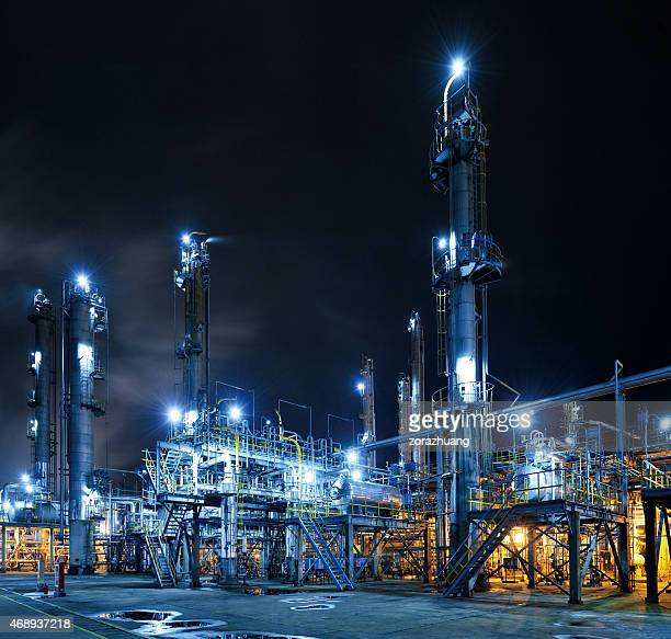 oil refinery - petrol stock photos and pictures