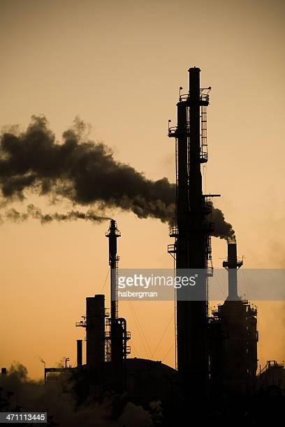 Oil Refinery Stacks