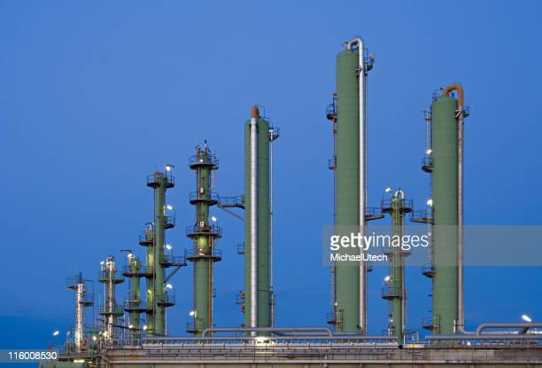 Oil Refinery Towers