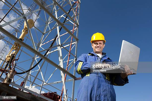 Oil rig and Computer
