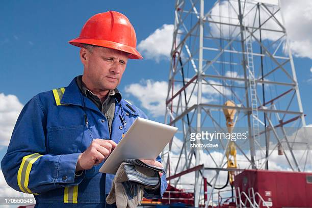 Oil Rig and Tablet Computer