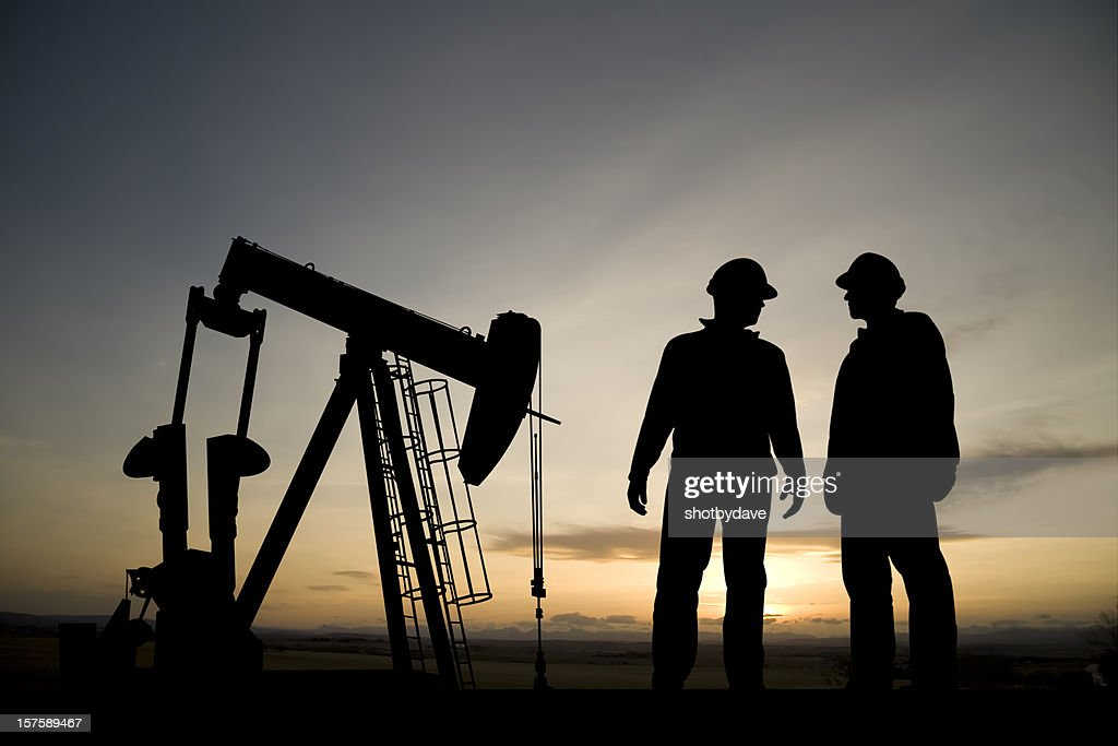 Oil Rig at Dusk : Stock Photo