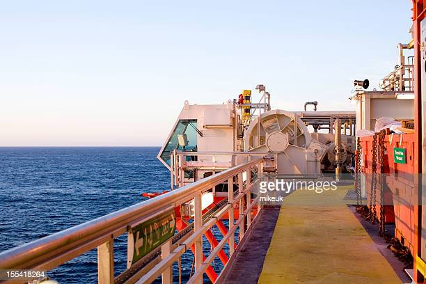 oil rig deck and anchor cabin