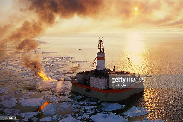 Oil rig in Beaufort Sea