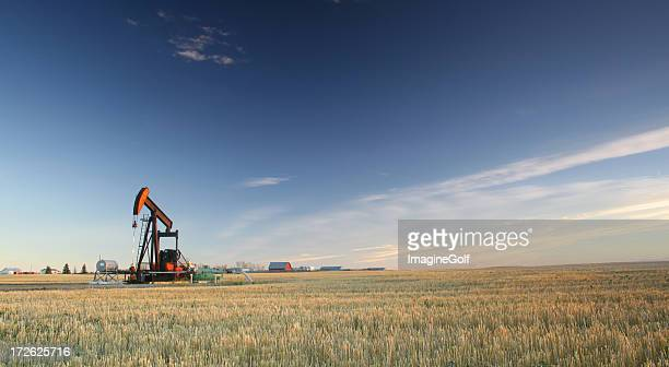 Oil Rig on the Plains in the Midwest