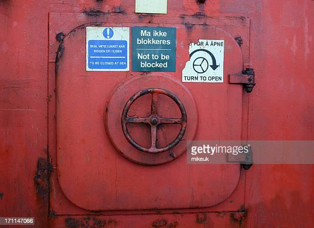 oil rig platform emergency escape hatch