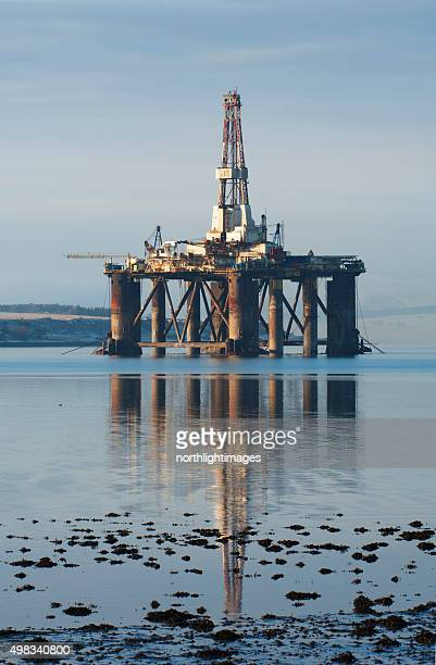 Oil rig reflections