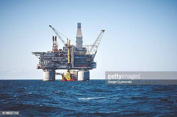 plataforma petrolífera mar - equipamento - fotografias e filmes do acervo