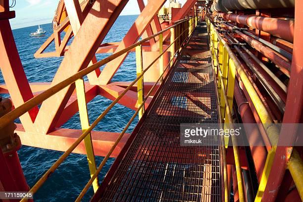 石油掘削装置の通路