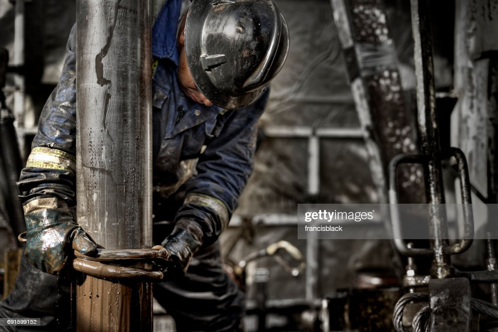 Oil Rig Worker 1.0 : Stock Photo
