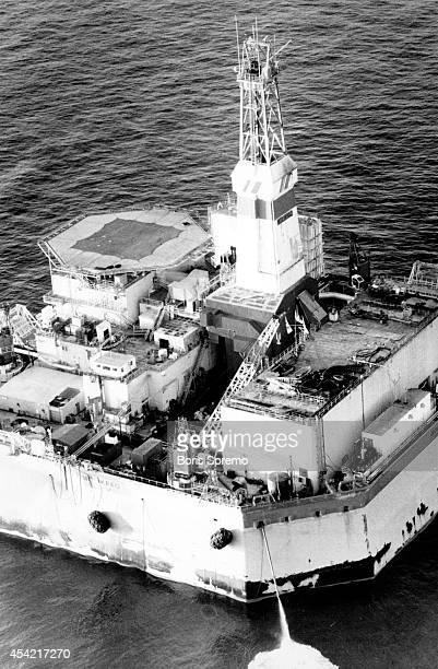 Oil rigs in the Beaufort Sea Photo taken by Boris Spremo Dec 1 1988