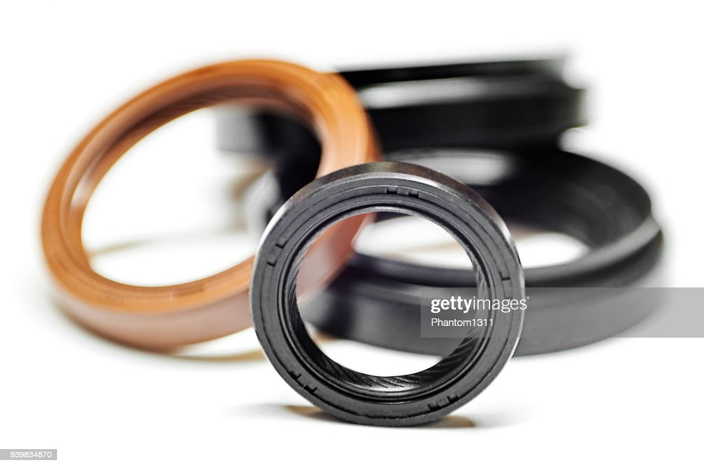 Oil seal with shallow depth of field : Stock Photo