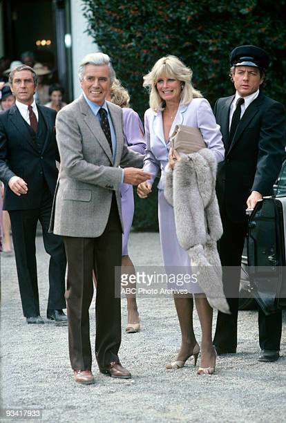 DYNASTY Oil Season One 1/12/81 Andrew Laird and Michael Culhane saw newlyweds Blake and Krystle Carrington off on their honeymoon