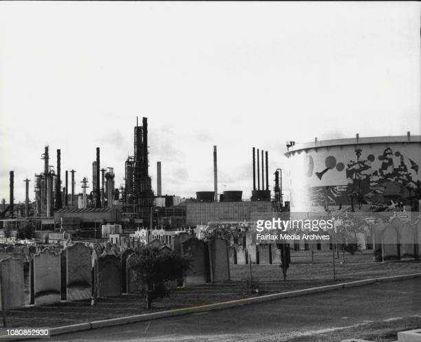 Oil spillage at the Ampol refinery in Yarra BayA general view of the refinary January 24 1981