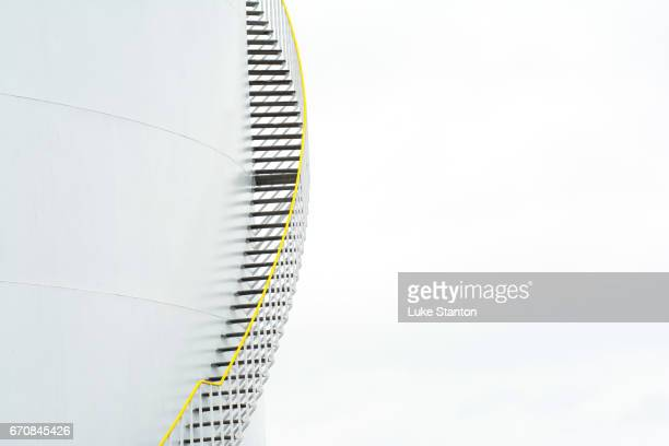 oil storage tank - steps stock photos and pictures