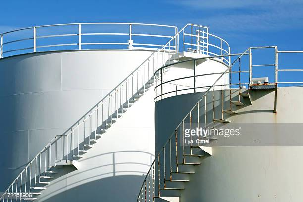 oil storage tanks - storage tank stock photos and pictures