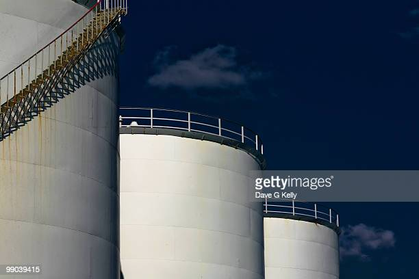 oil storage tanks - silo stock photos and pictures