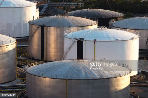oil tank, oil refinery plant. power and energy, petroleum, petrochemical concept. - storage tank stock photos and pictures