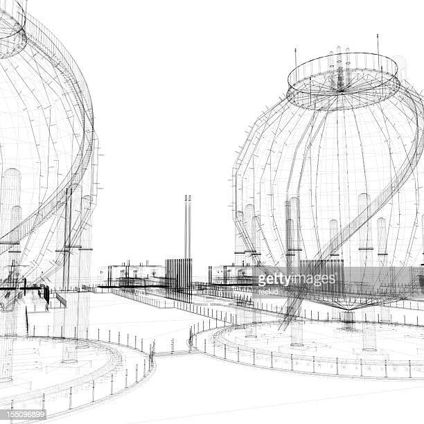 Oil Tank Wireframe
