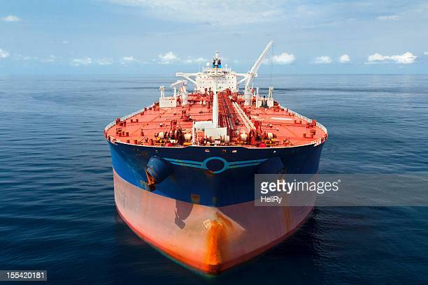 oil tanker at sea - slave ship stock photos and pictures